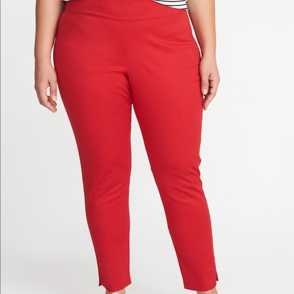 Old Navy Pants | Side Zip High Rise Red Plus Size 22 | Poshmark
